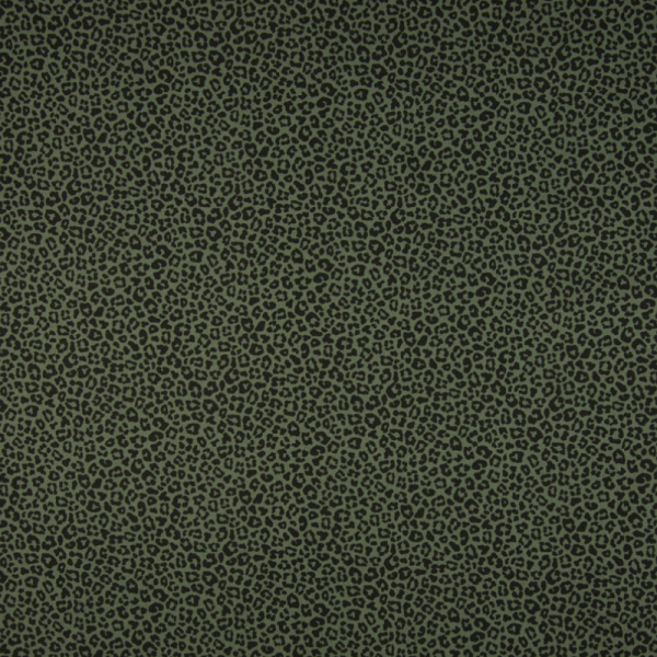 Baumwolle ~ Leoprint auf Khaki