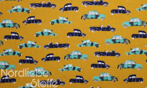 Baumwolle ~ Autos auf ocker