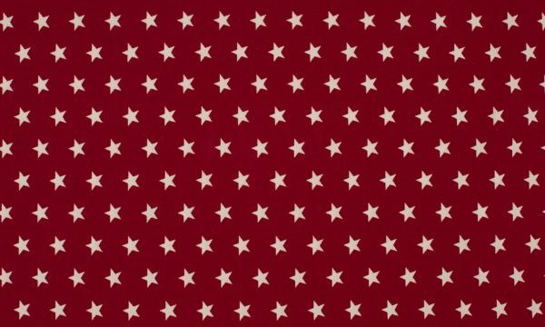 Baumwolle ~ Sterne auf Bordeaux