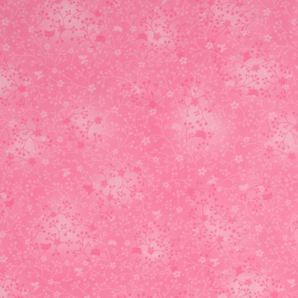Baumwolle ~ India Blumen Batik Rosa