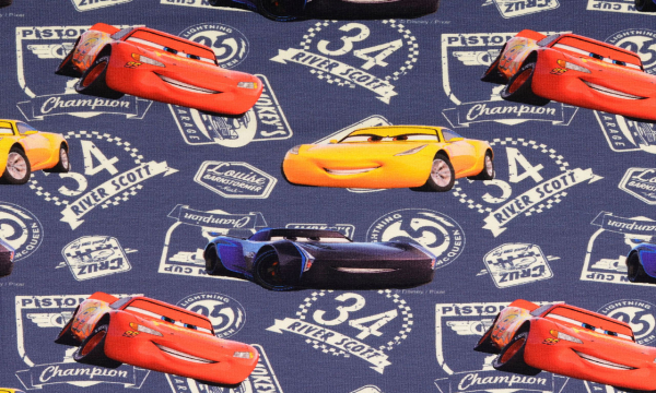 Lizenz Walt Disney Jersey ~ Cars Blau 0,51 m LETZTES Stück