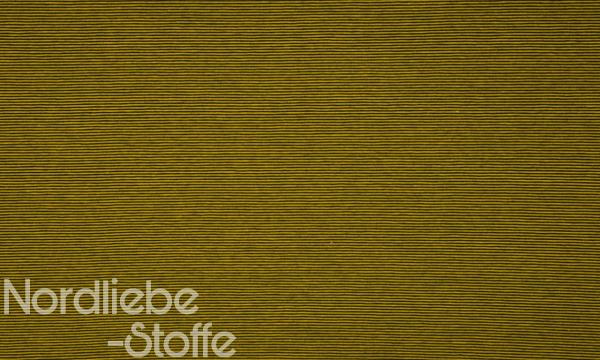 Jersey ~ zarte Streifen Ocker