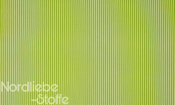 Baumwolle ~ zarte Streifen Lime