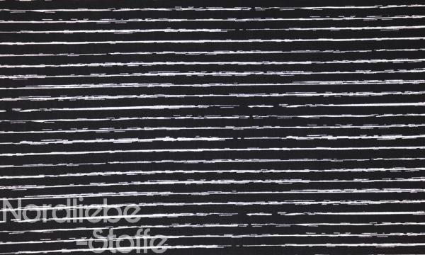 Baumwolle ~ Streifen Schwarz