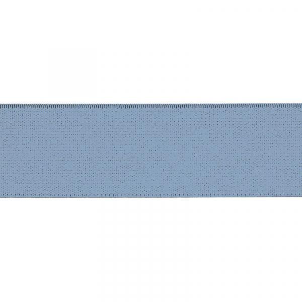 Gummiband elastisch 40 mm ~ UNI Blau