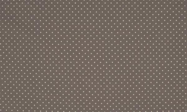 Baumwolle ~ kleine weiße Punkte auf Taupe