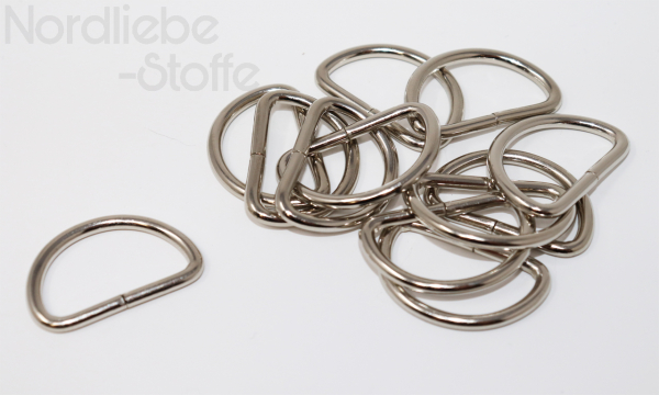 D-Ring 25mm silber