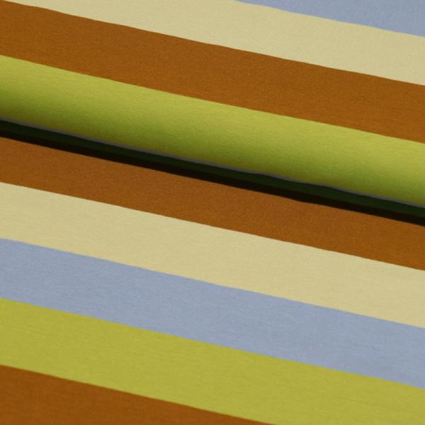 Jersey ~ breite Blockstreifen Grün