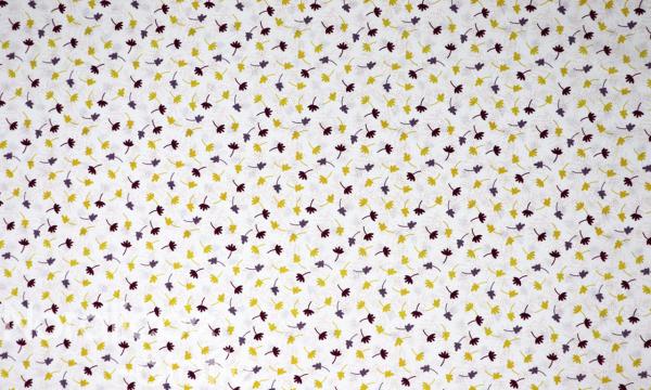 GOTS Organic Baumwolle ~ kleine Blätter ocker