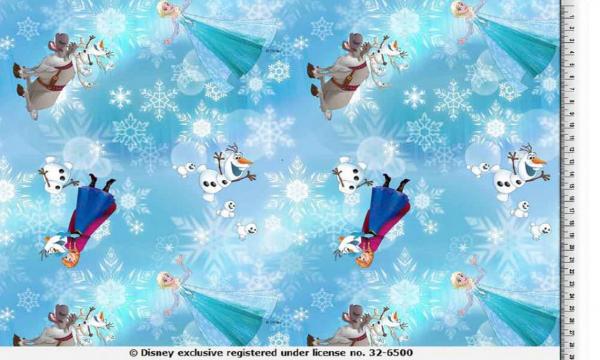 Lizenz Jersey ~ Frozen Anna & Elsa Türkis 0,96 m LETZTES Stück