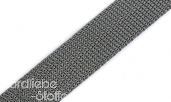 PP Gurtband 25mm SchieferGrau