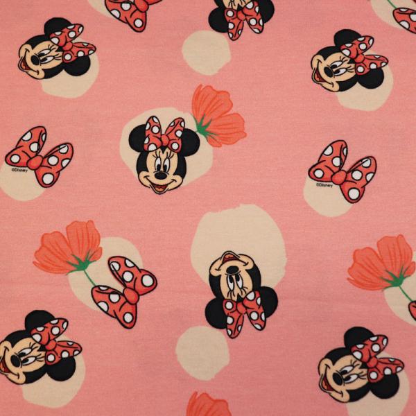 Lizenz Walt Disney Jersey ~ Minnie Mouse auf Lachsrosa
