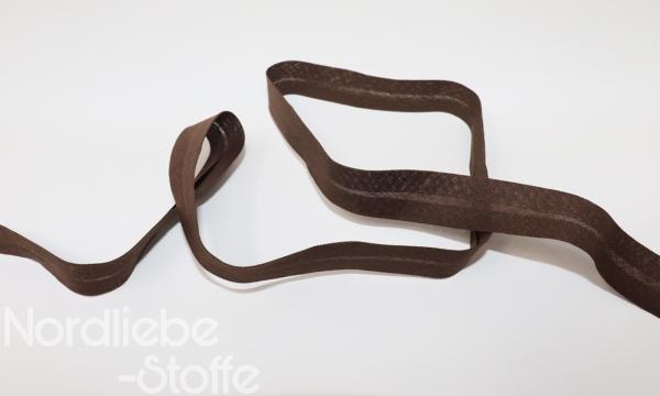 3 Meter Baumwoll Schrägband Nussbraun