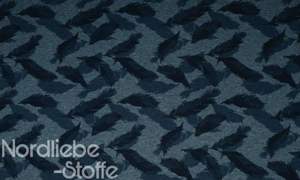 Jersey ~ Federn marineblau 0,34 m LETZTES Stück